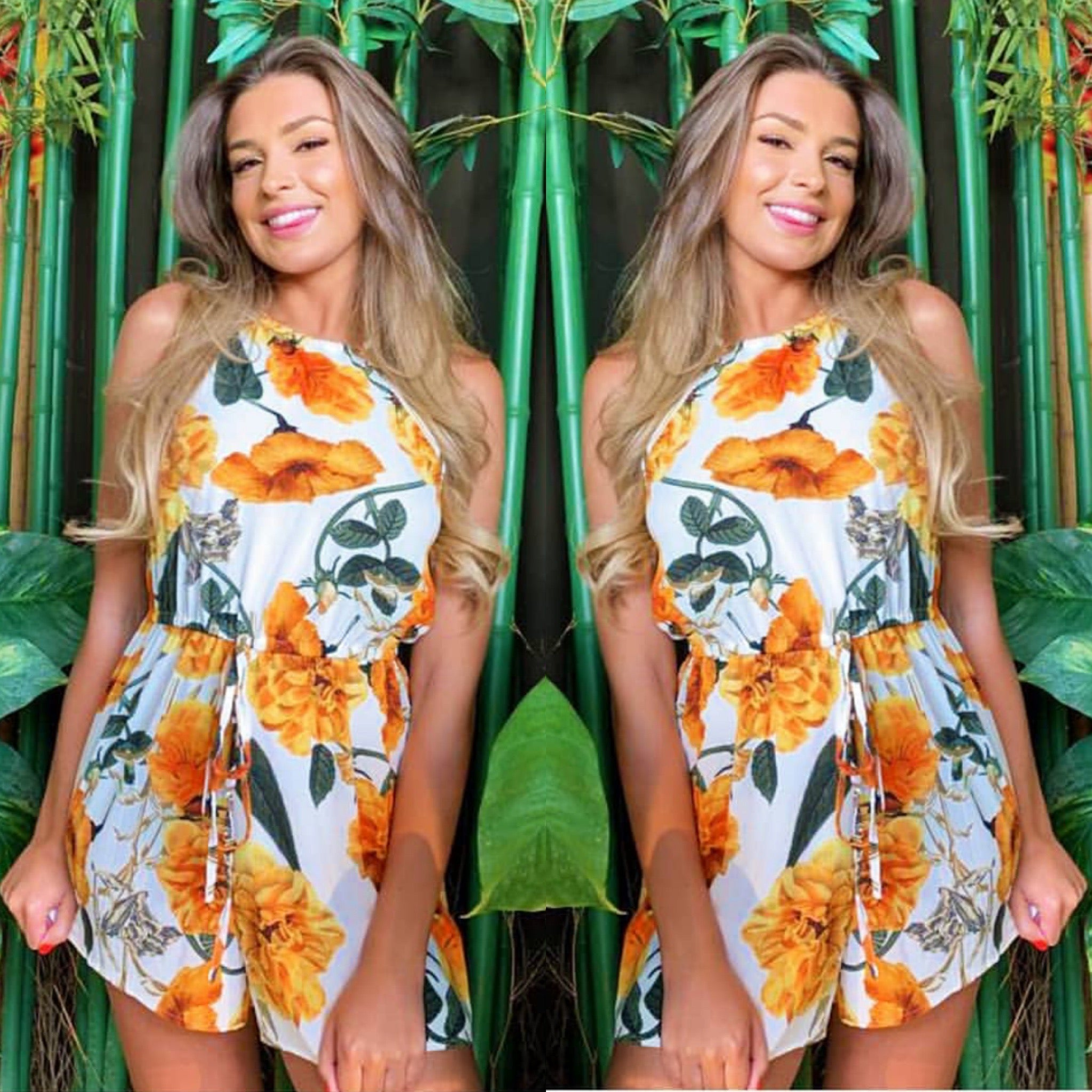 25Ten & Co Boutique Jumpsuits & Playsuits Tropical Playsuit [product_tags] - 25Ten & Co Boutique