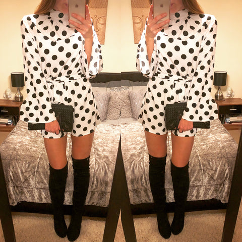 Poppy Polka Dot Playsuit