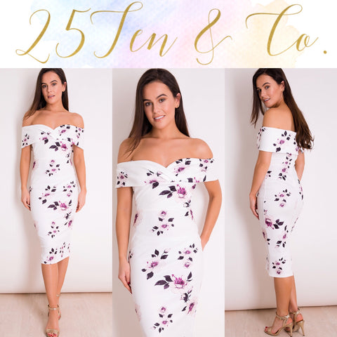 White Floral Harper Dress
