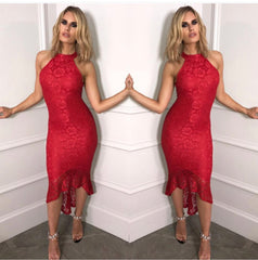 25Ten & Co Boutique Dresses Lace Fishtail Midi Dress [product_tags] - 25Ten & Co Boutique