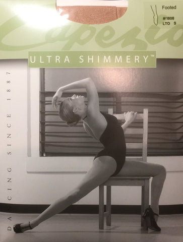 13666b533ce83 ... Capezio Adult Ultra Shimmery/Shimmer Stirrup Tights (1881) Light Toast/ Toast ...