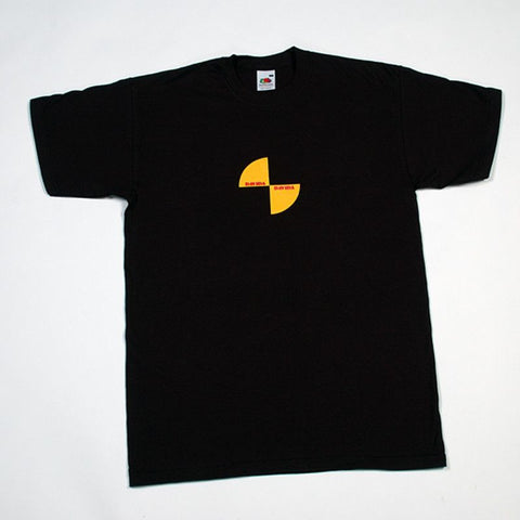 DAVIDA T-SHIRT - BLACK WITH YELLOW & BLACK IMPACT LOGO - Davida Apparel