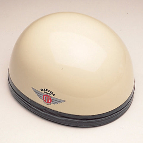 Davida Classic - Cream/Black Leather - Davida Motorcycle Helmet
