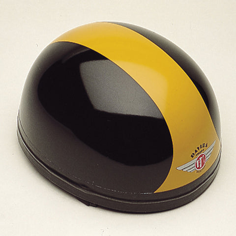 Davida Classic - Black/Orange - Davida Motorcycle Helmet