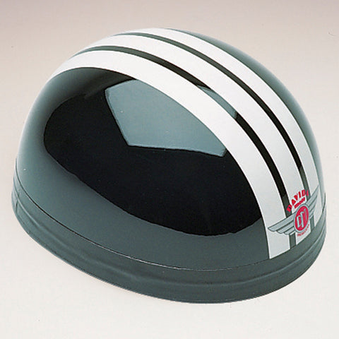 Davida Classic - Black/Three Stripe White - Davida Motorcycle Helmet