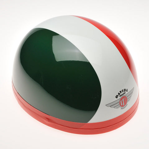 Davida Classic - Green/White/Red - Davida Motorcycle Helmet