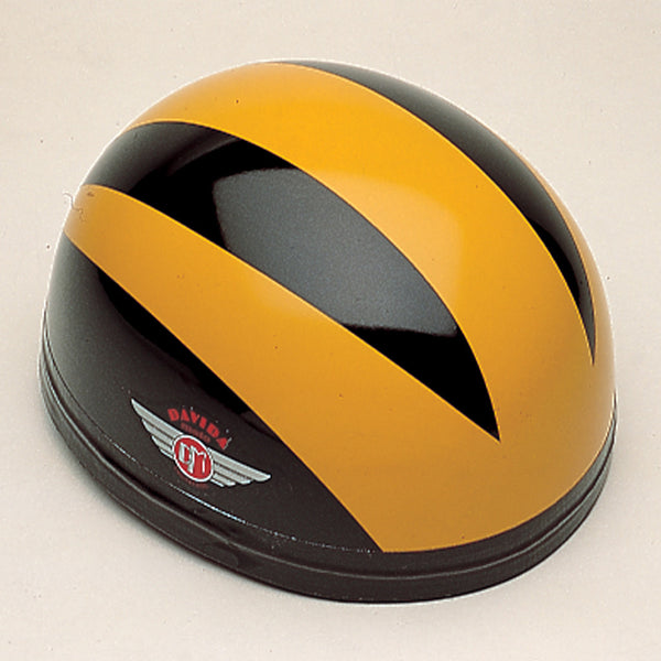 Davida Classic - Black/Three Orange Lines Special - Davida Motorcycle Helmet