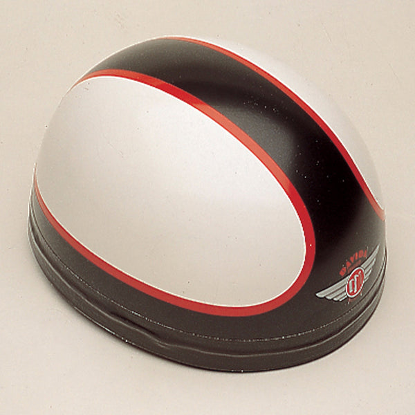 Davida Classic - White/Black/Red - Davida Motorcycle Helmet