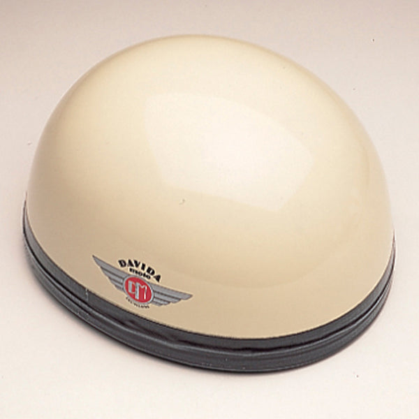 Davida Classic - Cream/Brown Leather - Davida Motorcycle Helmet