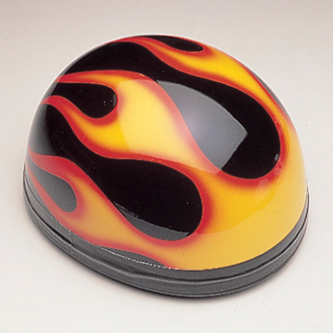 Davida Classic - Black/Orange Flames - Davida Motorcycle Helmet