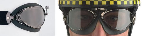 Aviator Retro Special Goggle - Black Foam Rubber