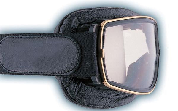 Aviator Retro Pilot T2 Optical Goggles - Black Leather - Davida Goggles