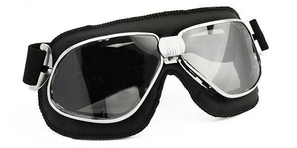 Nannini Biker Goggles - Black Leather - 9MC Goggles