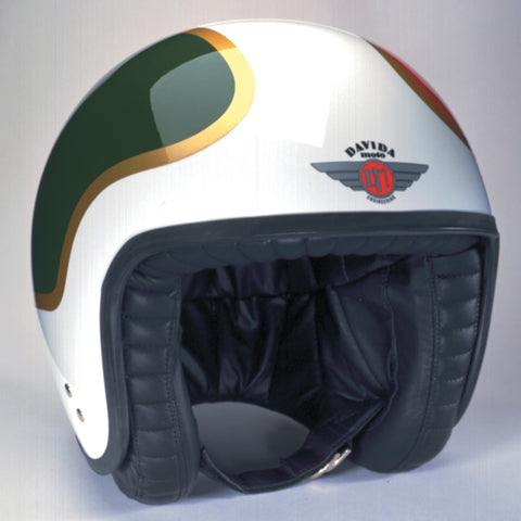Davida Jet Helmet - TTDX Red/Green/Gold/White (LARGE) - Davida Helmets