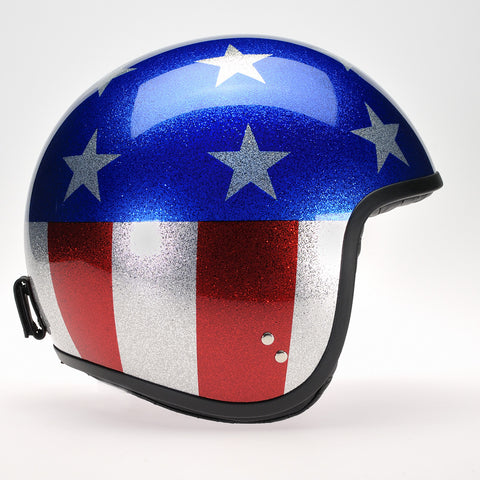 Davida Jet Helmet - Cosmic Flake Stars n Stripes - MOTORCYCLE GEAR 9MC