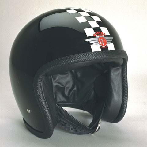 Davida Ninety Two Helmet - Black/White Check - 9 MC
