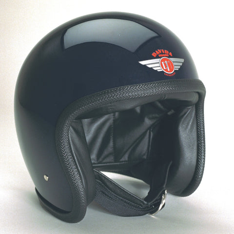 Davida Ninety Two Helmet - Gloss Black - MOTORCYCLE GEAR 9MC