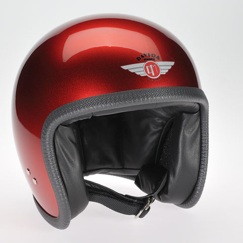 Davida Speedster v3 Helmet - Cosmic Candy Red - Davida DOT Approved MOTORCYCLE Helmet