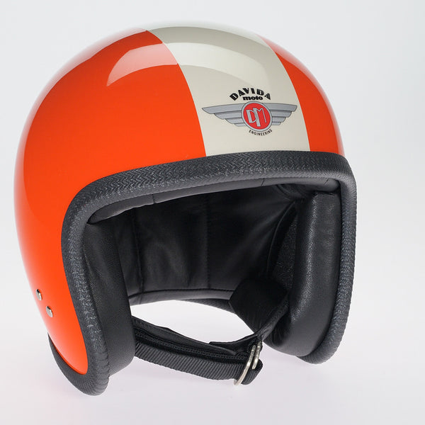 Davida Ninety Two Helmet - Orange/Cream - Davida Helmets