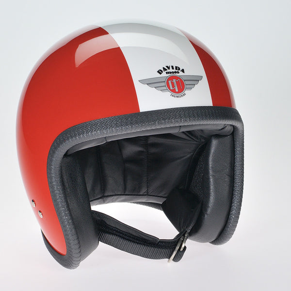 Davida Ninety Two Helmet - Red/White - Davida Helmets