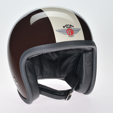 Davida Ninety Two Helmet - Brown/Cream - Davida Helmets