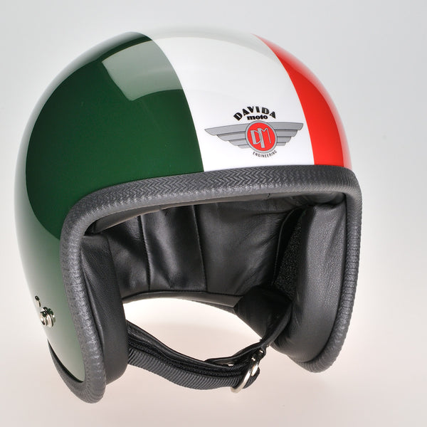Davida Ninety Two Helmet - Green, White, Red - Davida Helmets