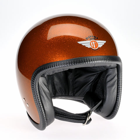 Davida Speedster v3 Helmet - Cosmic Flake Orange - Davida DOT Approved MOTORCYCLE Helmet