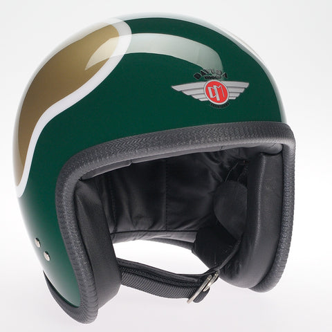 Davida Ninety Two Helmet - Gold/Green/White - Davida Helmets