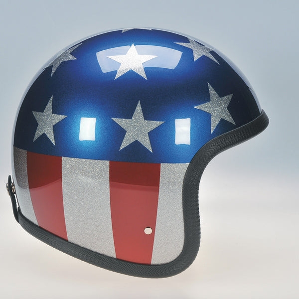 Davida Ninety Two Helmet - Metallic Stars and Stripes - Davida Helmets