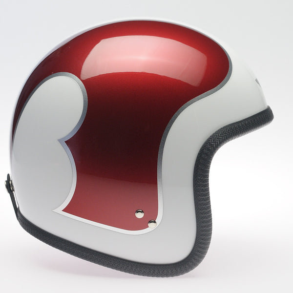Davida Ninety Two Helmet - White B Metallic Red/Silver - Davida Helmets