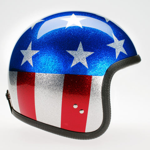 Davida Ninety Two Helmet - Cosmic Flake Stars and Stripes (SMALL) - Davida Helmets