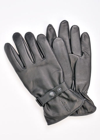 Davida Gloves - Men's Shorty Black Leather - Davida Gloves