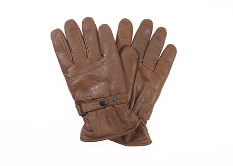 Davida Gloves - Men's Shorty Brown Leather - Davida Gloves