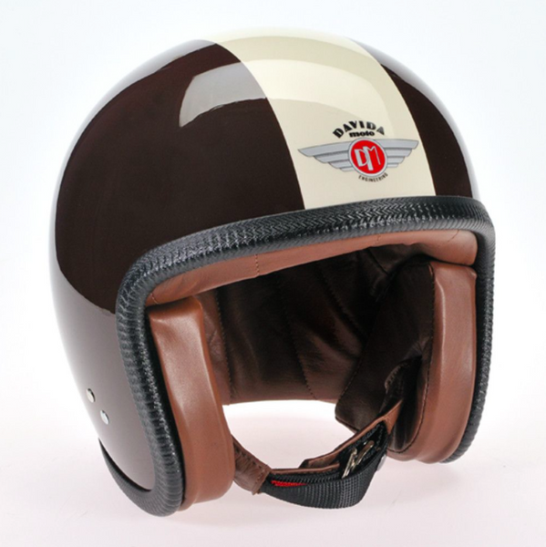 Davida Ninety Two Helmet - Cream Znut Brown - Davida Helmets