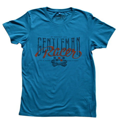 Smokey Joe Gentleman Racer Tee - Blue - Smokey Joe Apparel