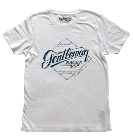 Smokey Joe Gentleman Racer Tee - White - Smokey Joe Apparel