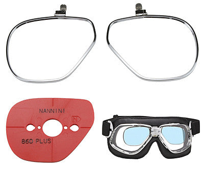NANNINI PRESCRIPTION LENS GOGGLE KIT CRUISER & RIDER ONLY - Davida Accessories