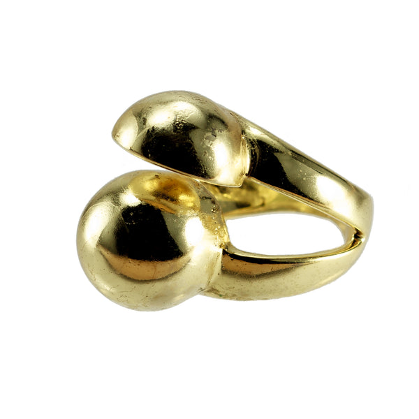 Quarter Moon Ring Gold