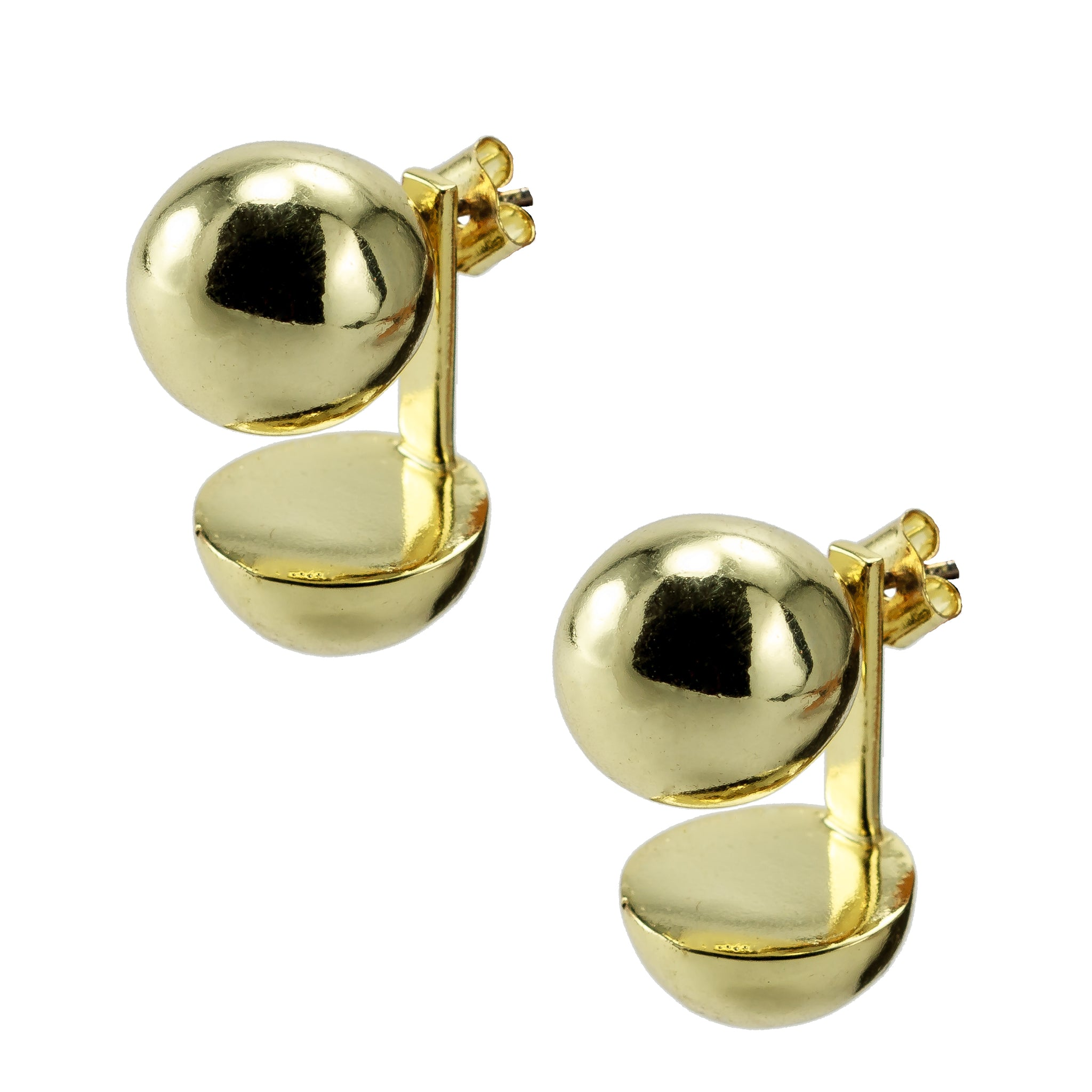 First Quarter Moon Earrings Gold