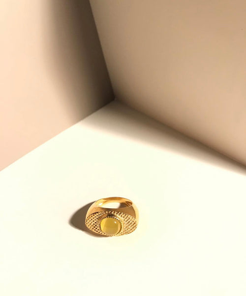 Wolf Eye Ring Yellow