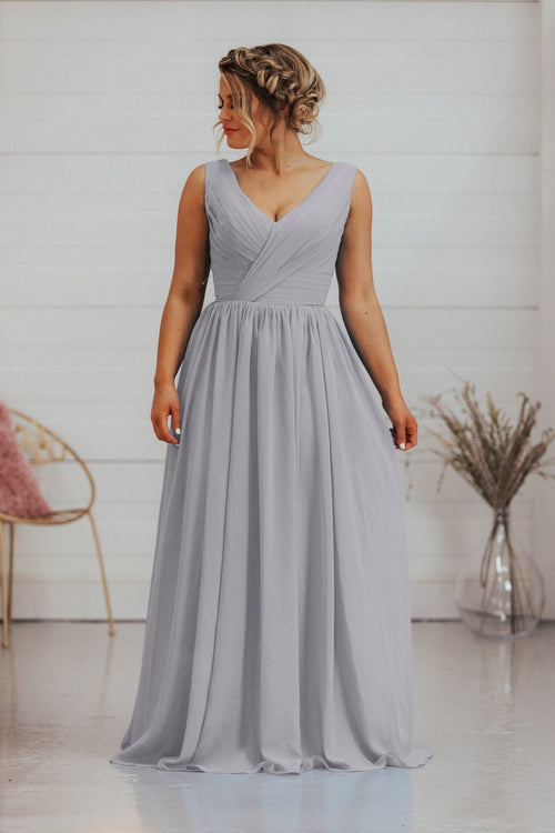 Alana Dress | 2 Straps Chiffon A Line Bridesmaid Dress - That Special Day Bridal Warehouse