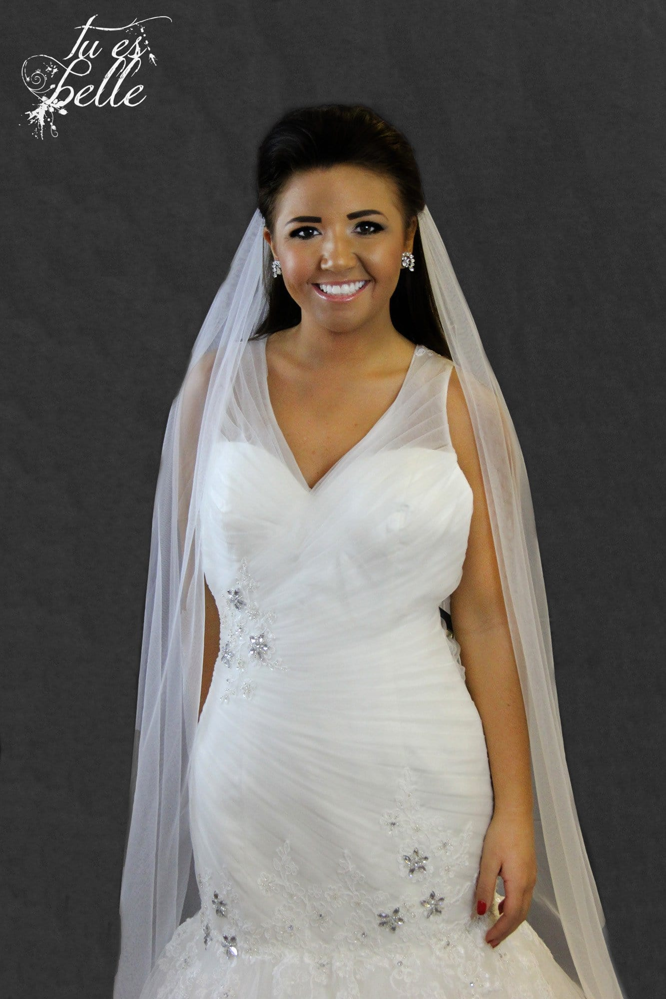 Bonita-One Tier Cathedral Length Cut Edge Veil - That Special Day Bridal Warehouse