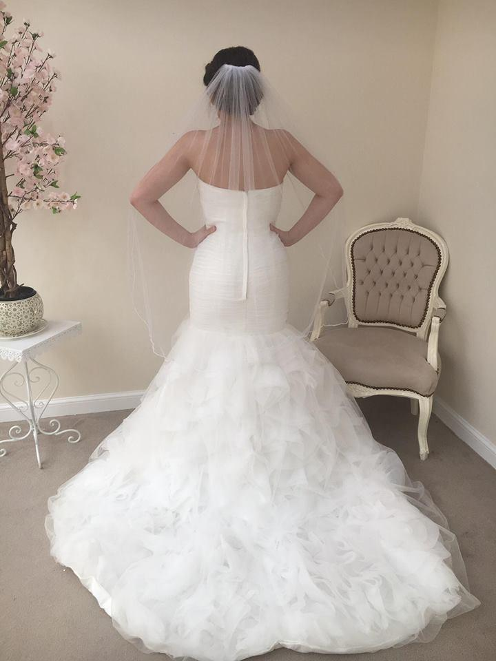 One Tier Knee Length With Pencil Edge - That Special Day Bridal Warehouse