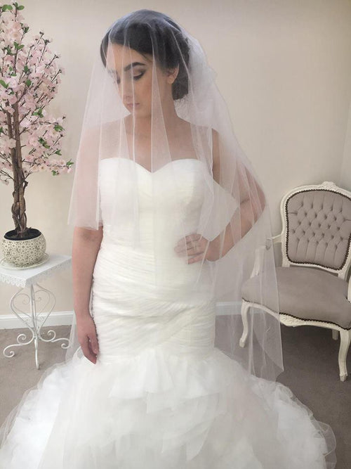 Two Tier Knee Length Cut Edge - That Special Day Bridal Warehouse