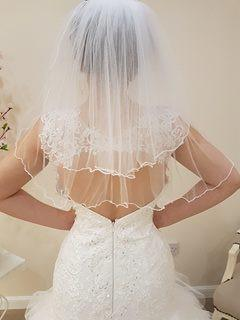 Two Tier Shoulder Length Pencil Edge - That Special Day Bridal Warehouse