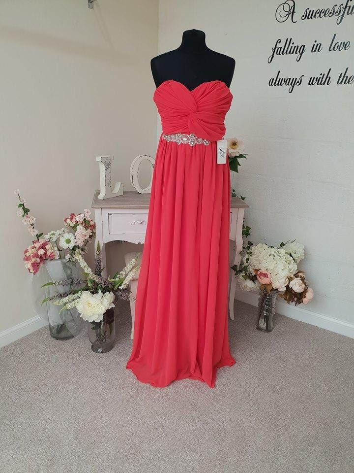 Bella Sweetheart Strapless Maxi Bridesmaid Dress