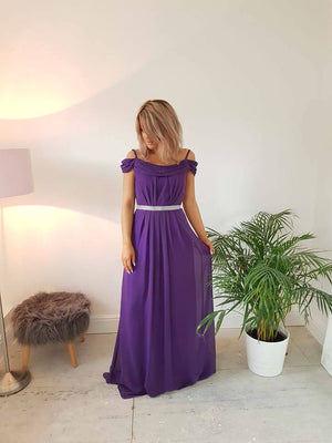 Abigail Plus Size Cold Shoulder Bridesmaid Dress