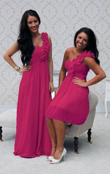 EVE SHORT HOT PINK - That Special Day Bridal Warehouse