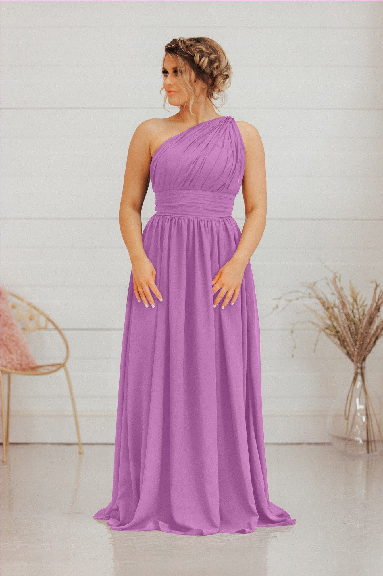 Harper Dress | 1 Strap A Line Bridesmaid Dress - That Special Day Bridal Warehouse