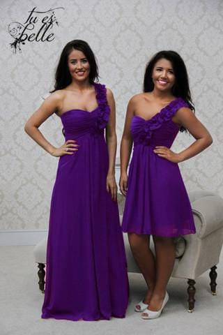 EVE SHORT CADBURY PURPLE - That Special Day Bridal Warehouse